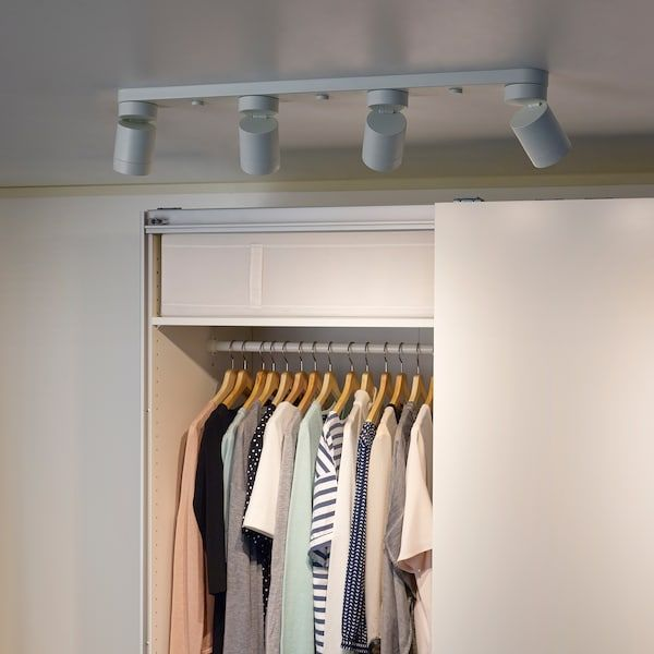 Nymane Ceiling Light With 4 Spotlights White Ikea In 2020 Ceiling Spotlights Ceiling Lights Ikea