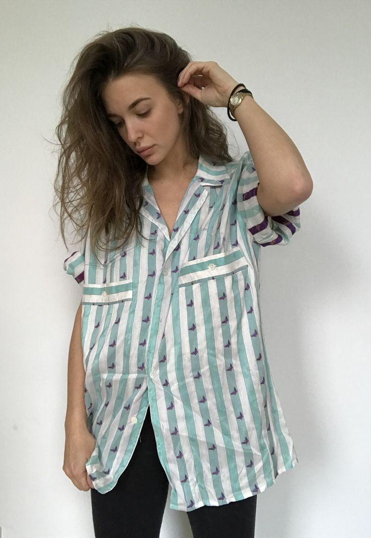 Patterned Oversized Retro Vintage Unisex Festival Shirt | RockettWears | ASOS Marketplace