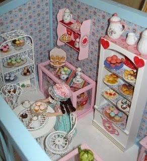 miniature scene - Cupcake Shop by Kitty Balke
