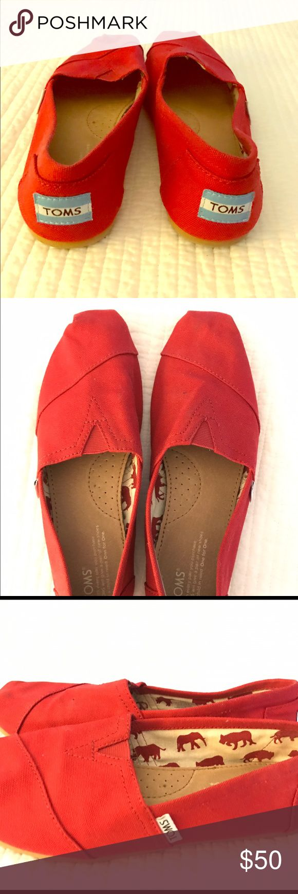 Classic women's Red Toms Women Red Toms size 8  like new, only worn a few times TOMS Shoes Flats & Loafers