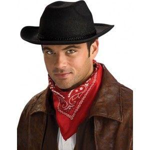 Chapeau cowboy noir adulte,