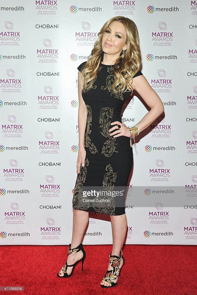 Singer Thalia attends the 2015 Matrix Awards at The Waldorf Astoria on April 27, 2015 in New York City.