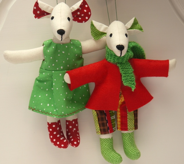 Fabric Christmas Decoration Mice - Mouse Partners £25.00 | I like mice  ..there rather nice | Pinterest | Fabric christmas decorations, Mice mouse  and Mice - Fabric Christmas Decoration Mice - Mouse Partners £25.00 I Like