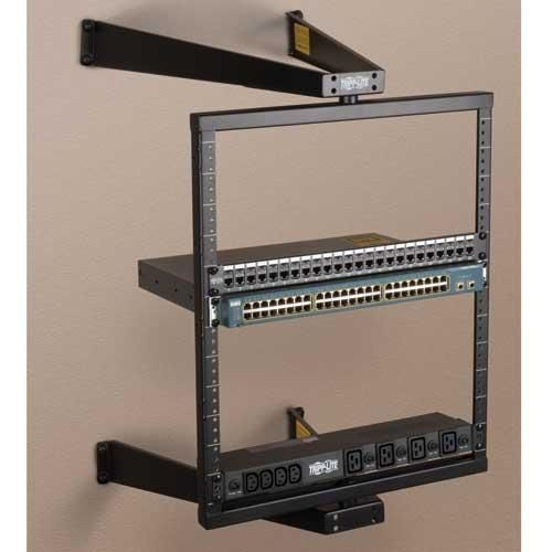 12U Wall-Mount Pivoting Open Frame Server Rack by Tripp Lite (SRW012US,  SRWO12US - Wall Mount Data Rack Cymun Designs