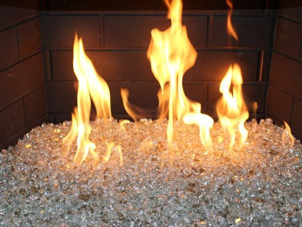 Bling Fireplace Glass Crystals