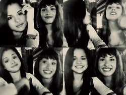 hey its selena gomez and demi lovoto its wierd there doing one thing over and over