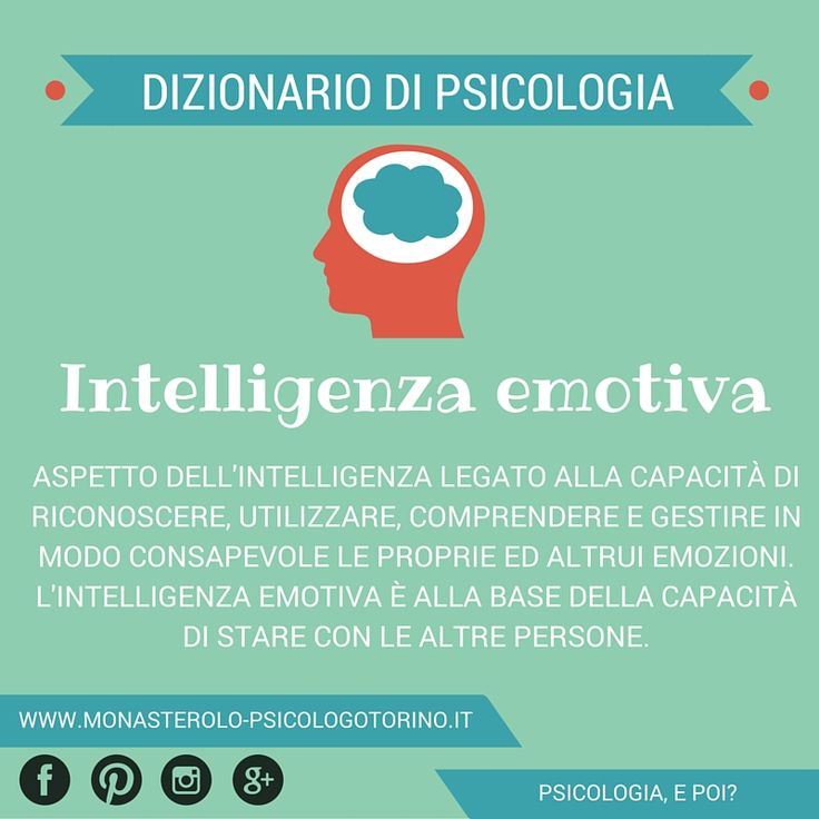 Dizionario di #Psicologia: #IntelligenzaEmotiva