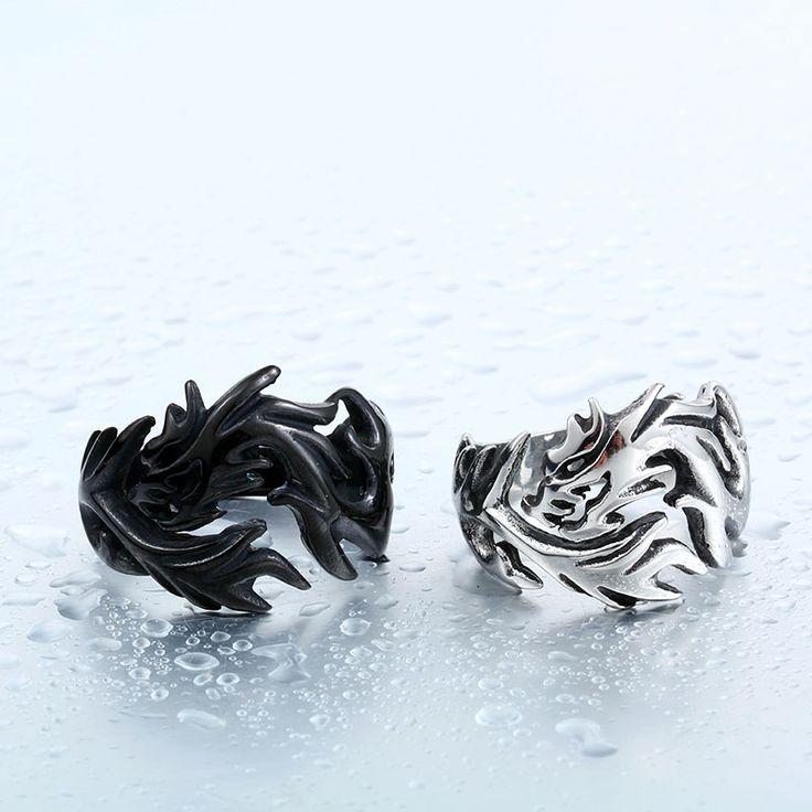 Stainless Steel Dragon Ring //Price: $12.99 & FREE Shipping //     #skull #skullinspiration #skullobsession #skulls