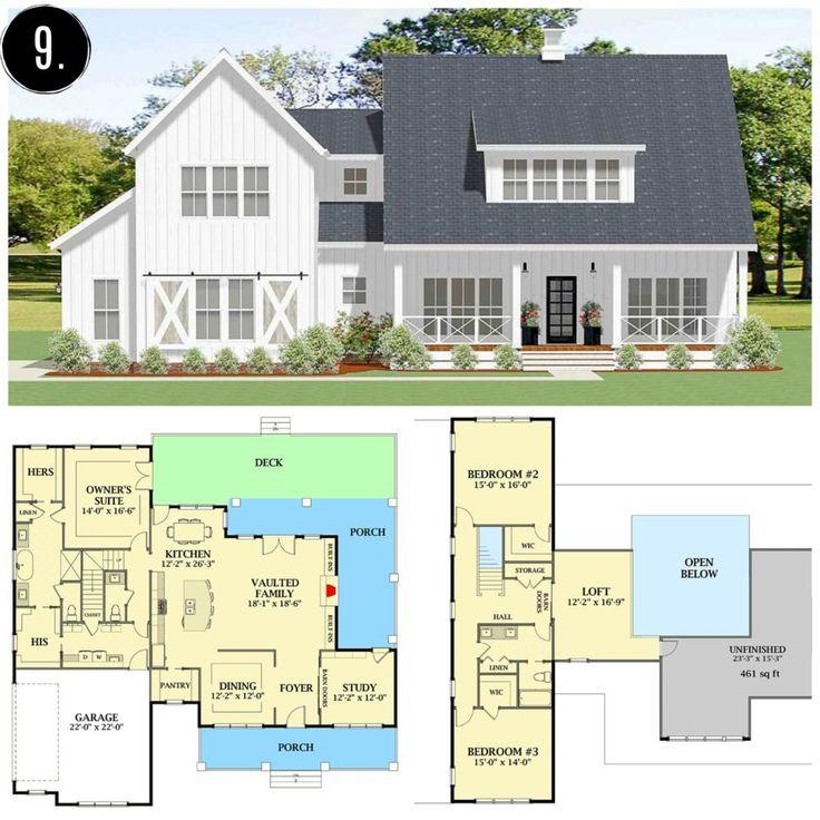 10+ Amazing Modern Farmhouse Floor Plans Modern
