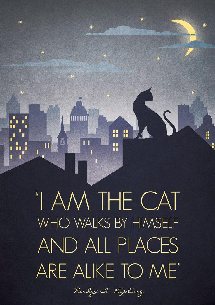 Original Design Art Deco Bauhaus A3 Poster Print Vintage 1930s Cat Fashion Vogue 1940s Rudyard Kipling Quote City Cityscape. £12.50, via Etsy. (Downton Abbey quote too haha)