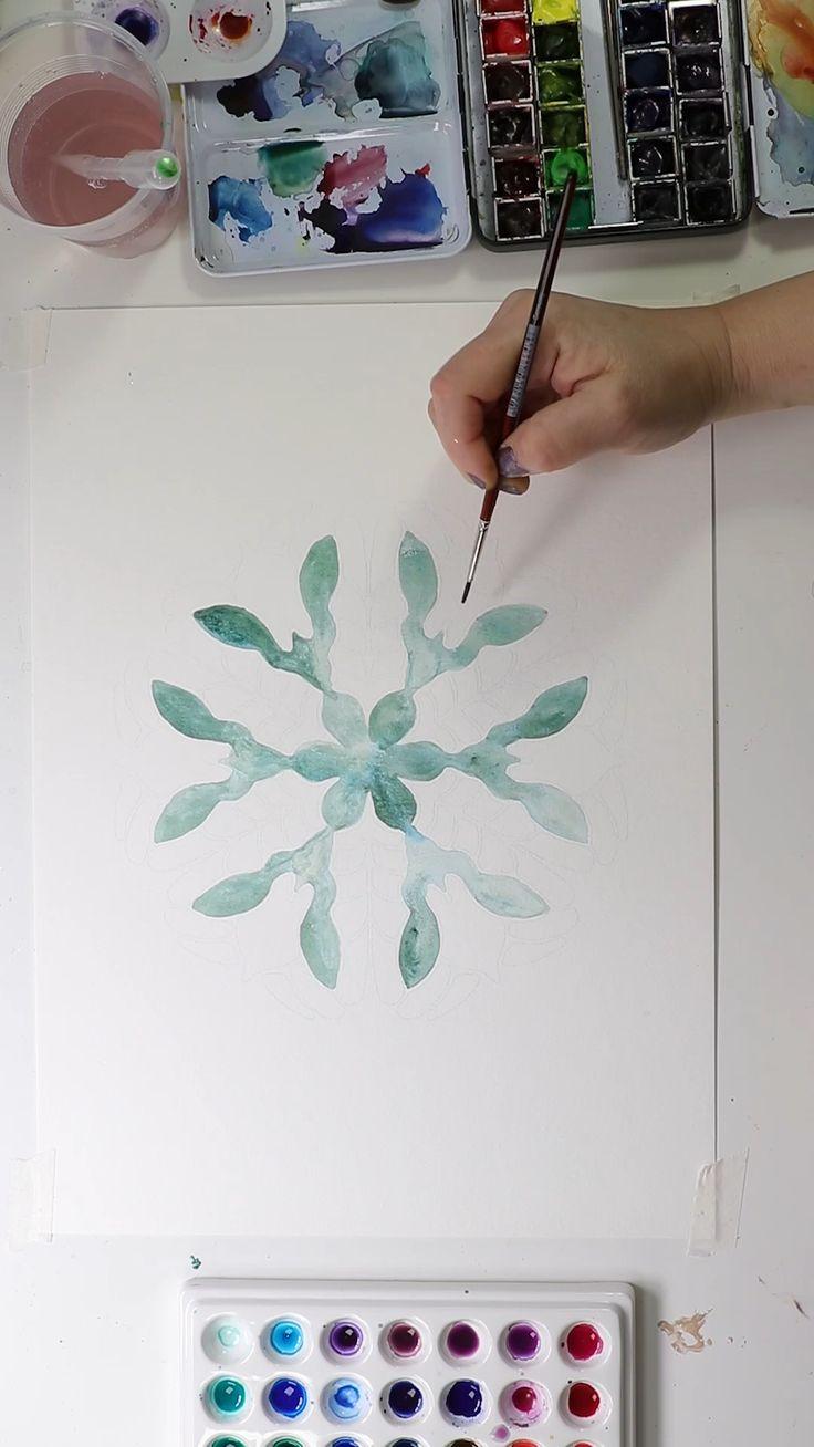 Watercolor Mandala by Josie Lewis