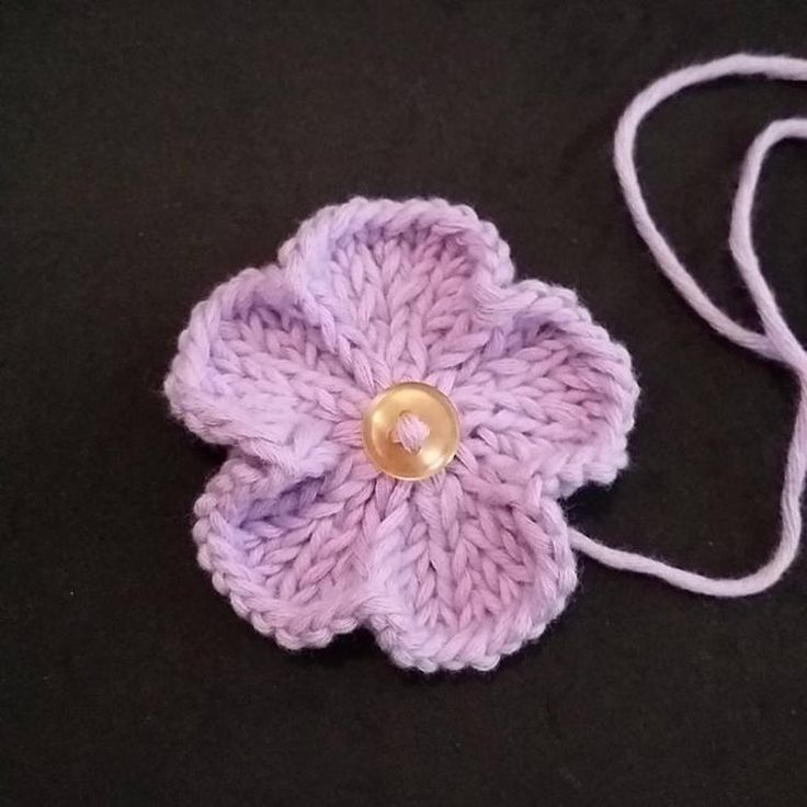 The flower is work seamlessly in the round.You can use double pointed needles or circular needle long enough to do magic loop.