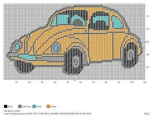 VW BUG by JODY -- WALL HANGING