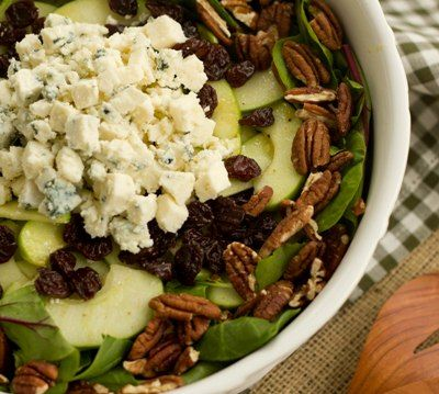 Winter Salad with Apples, Pecans, Blue Cheese and Dried Cherries ...