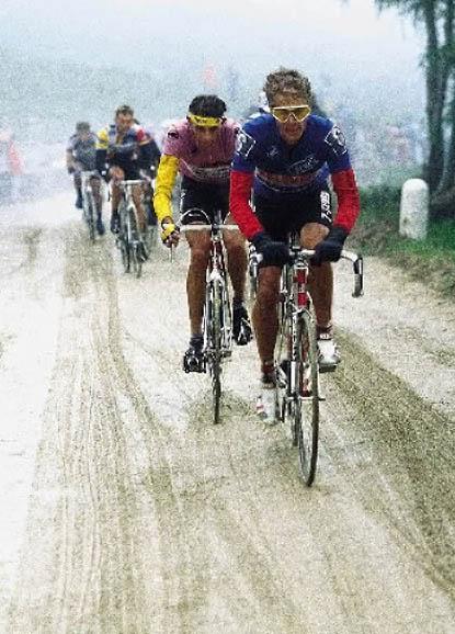 GIRO 1988,Hampsten sobre hielo.