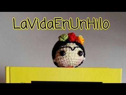Frida Kahlo amigurumi/ marcapáginas crochet - YouTube