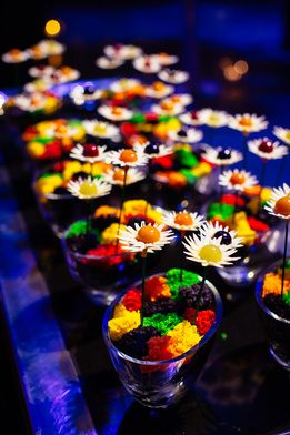 The dessert garden at Grand Hyatt Melbourne gave guests the choice of their own colorfully edible treats. #LivingGrand