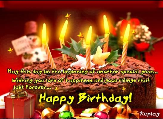 17 Best images about Happy Birthday – Christmas Birthday Greetings