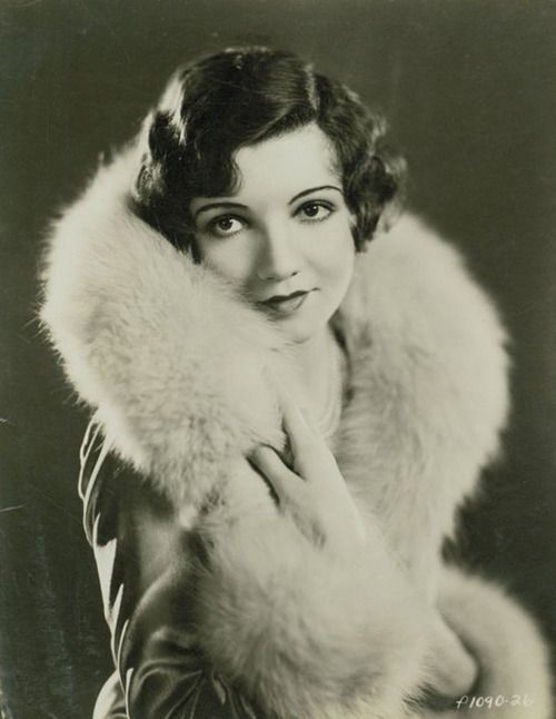 Claudette Colbert, 1920s. Fashion, vintage, history, beauty, female, portrait, photo