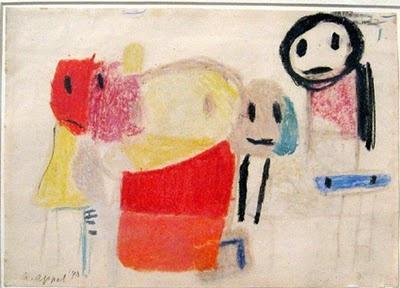 Il faut regarder: Maskers en Cobra-kunstenaars - Karel Appel - Vragende kinderen 1947