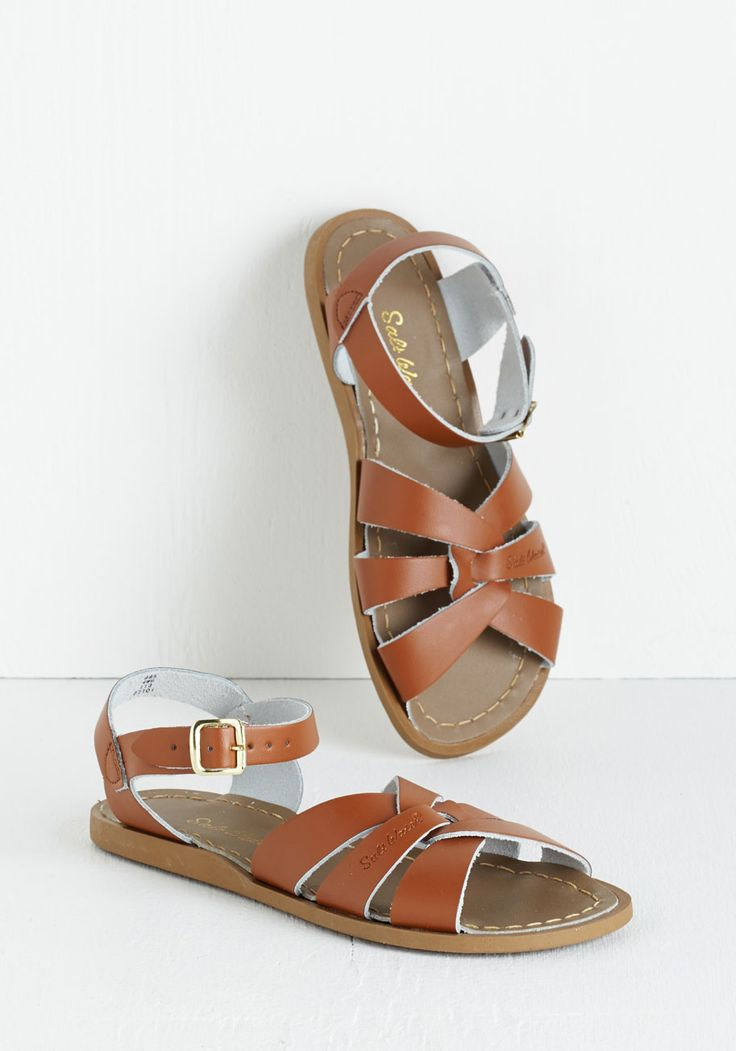 Salt Water Outer Bank on It Sandal in Tan. A sunny reception from your friends is a shore thing when you come dancing across the dunes in these stunning shoes by Salt Water Sandals! #brown #modcloth