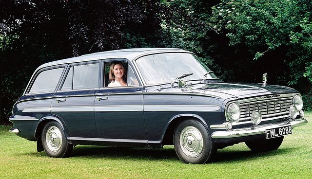 1964 Vauxhall Victor FB De Luxe Estate Wagon. This followed the Wolsey I remember the weird gear shift on the steering column and handbrake arrangement!
