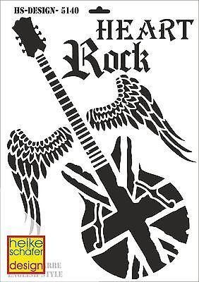 Schablone A3- Art.Nr. 5140 - Rock Gitarre English Style - Heike Schäfer