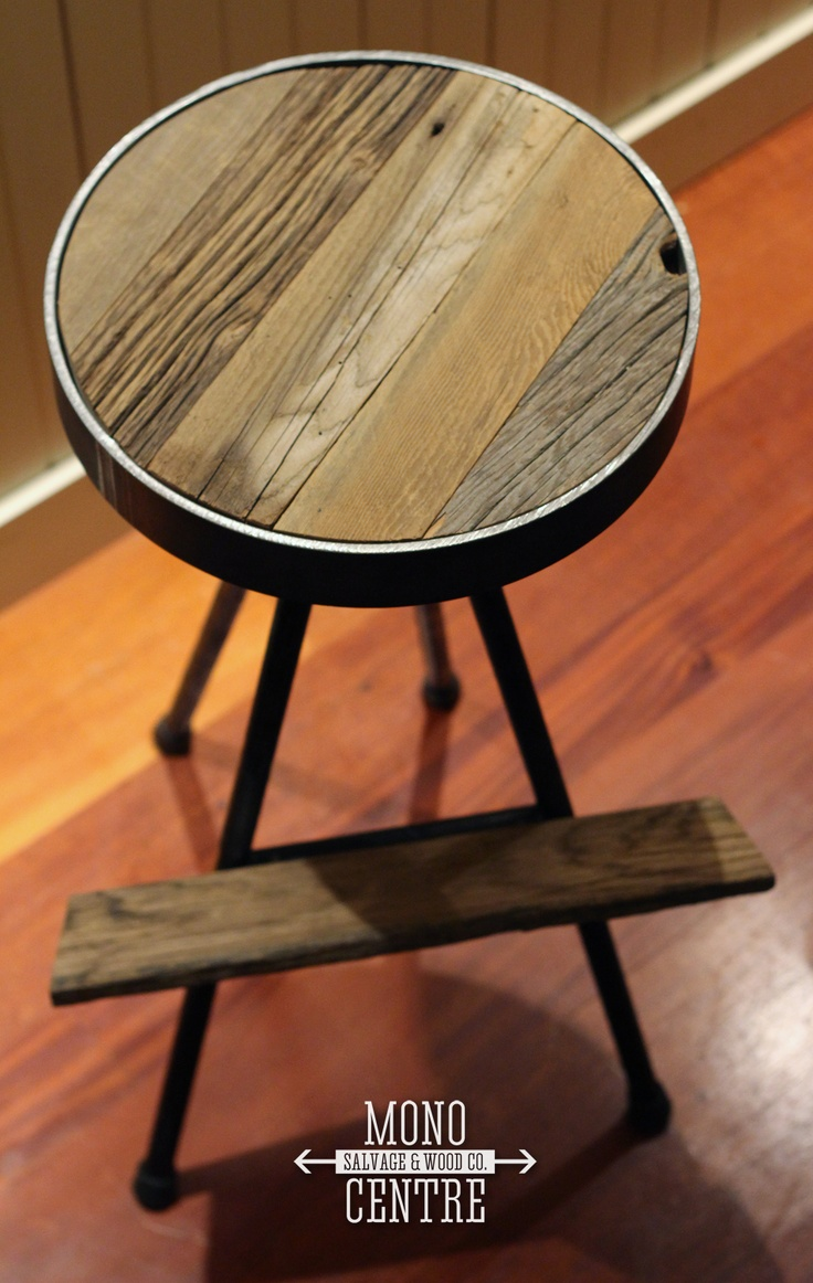 These standard bar height stools are a mix of rustic for Barn wood salvage companies