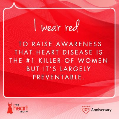 In 2002, The Heart Truth introduced the Red Dress as the national symbol for women and heart disease awareness. Today, Americans nationwide wear red to show their support of women's heart health. Repin to show why you wear red. For more information on women's heart health, visit www.hearttruth.gov.