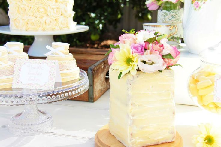 Gorgeous Cake & Cake topper -Styled By- Rahenna's Floral Design, Sweet Sister Cookies & Sweet Treats, Paper Blossom Creations, Sweets & Tea, photos by Brad Razz Photography