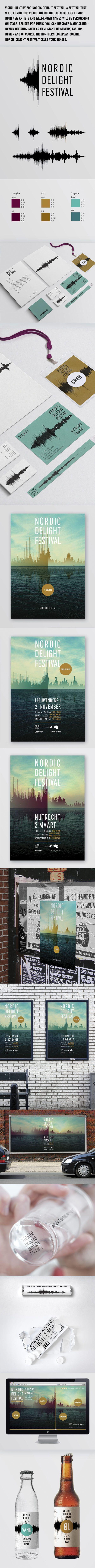 Nordic Delight Festival identity by CLEVER°FRANKE - Data visualization , via Behance