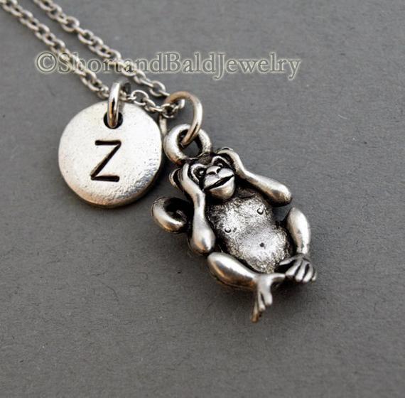 Three Monkeys necklace Three wise monkeys Charm pendant See no evil