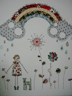 Gorgeous free motion embroidery here