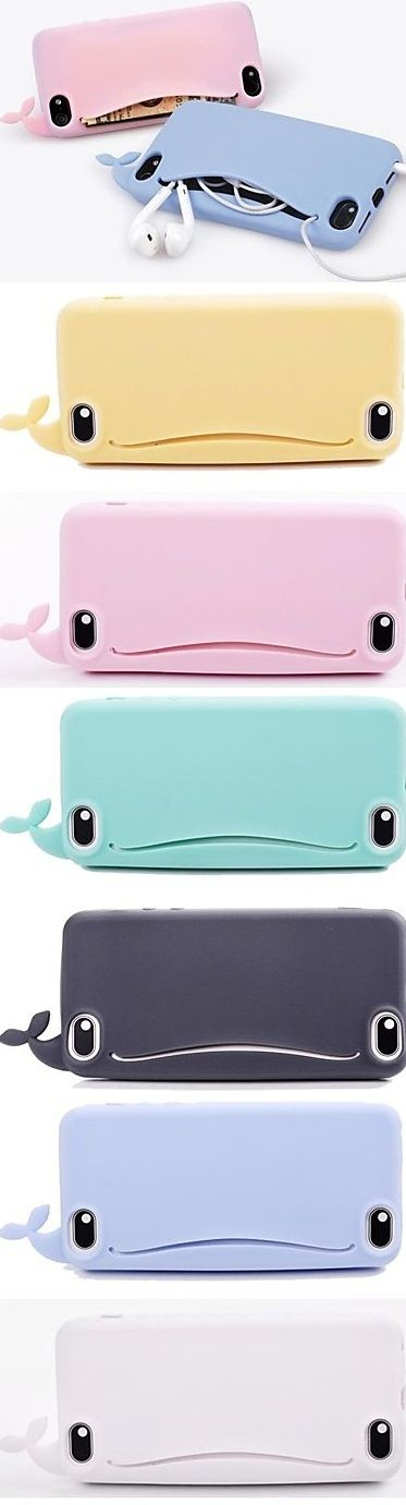 This cute silicone whale is a cool iphone case with a pocket for your ear bugs. Check it out!