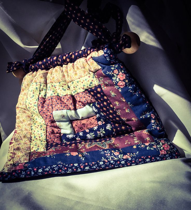 Vintage Bag, Hand Quilted in Nova Scotia Canada.