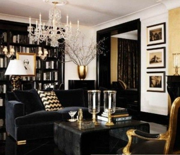 Cool Gothic Living Room Deisign