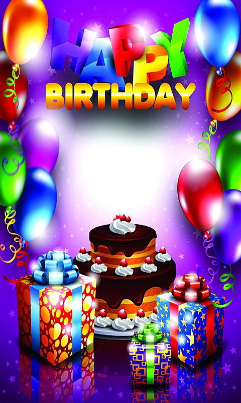 Download 480x800 «Happy Birthday» Cell Phone Wallpaper