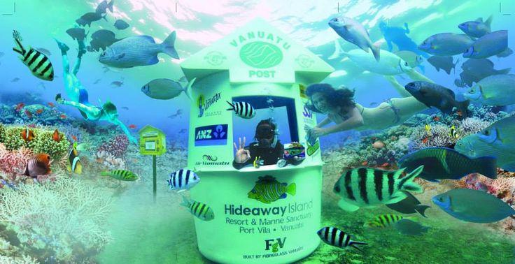 underwaterpostoffice-snorkel-hideawayisland -jpg Island fun,Hideaway snorkel, sneaky beer a day out for the family. A short drive from Waves On Vanuatu.