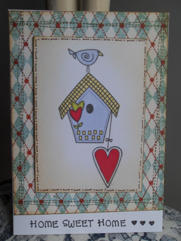 home sweet home card created with inky doodles stamps.