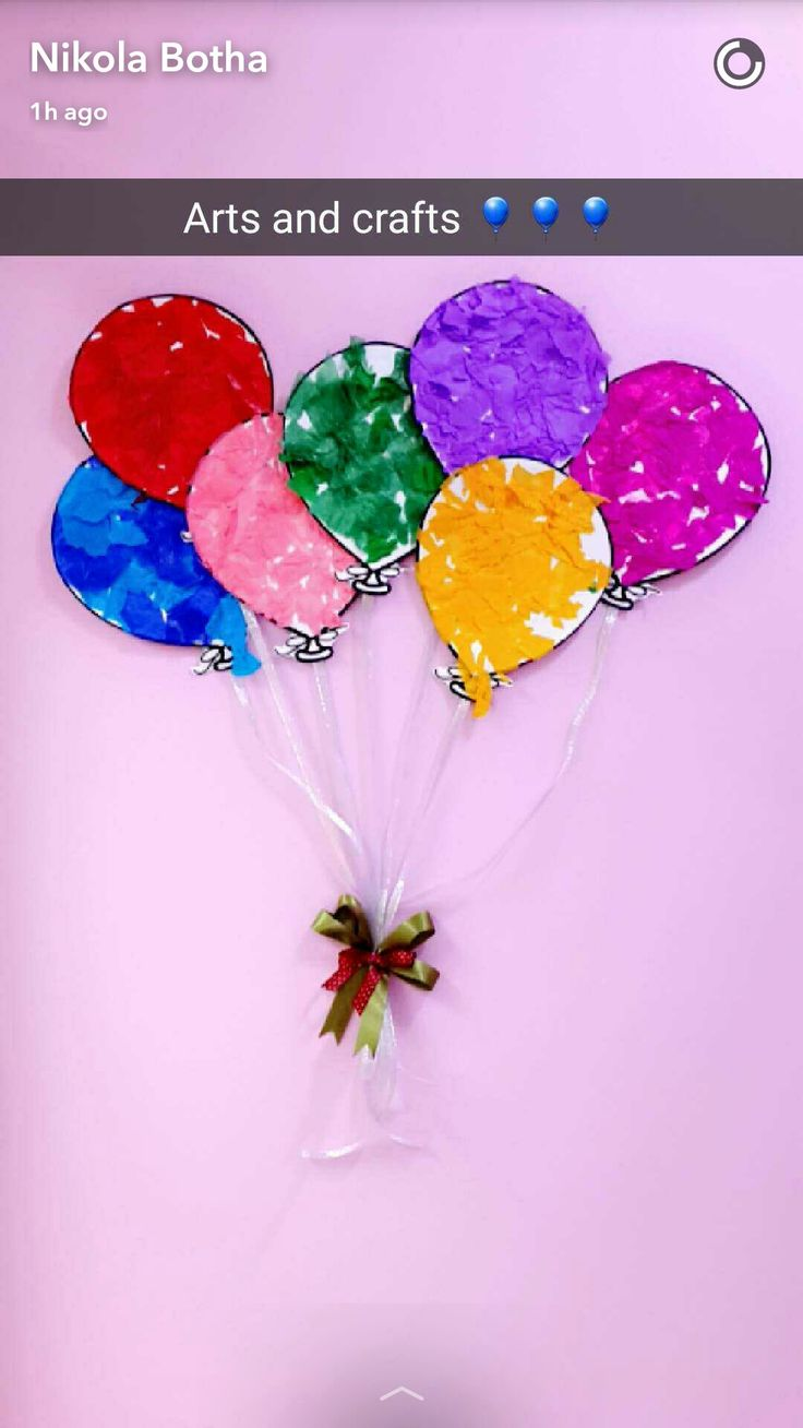 Fine motor skills balloons. Students tear pieces of tissue paper and stick it on a cut out of a balloon.