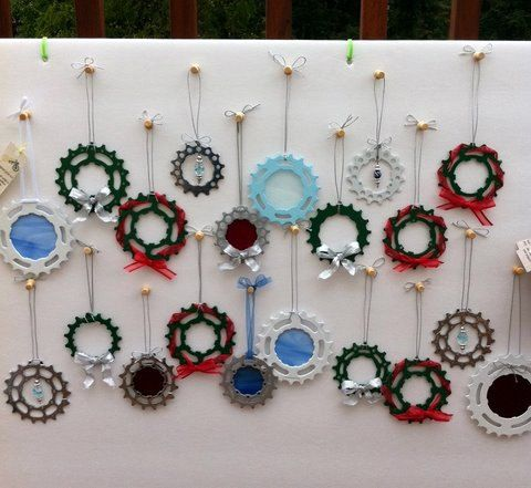 Bike cog ornament decor decoration holiday Christmas  http://www.biketalker.com