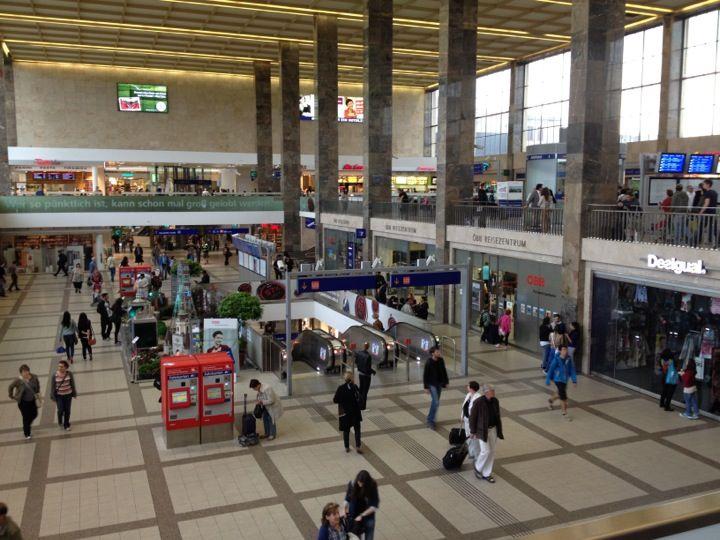 ÖBB Österreichische Bundesbahnen AG, austrian federal railways visual identity - Wien Westbahnhof