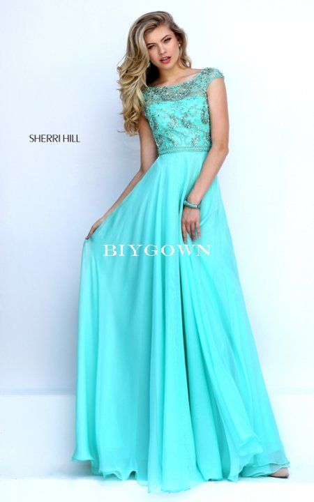 Prom dress knee length jean
