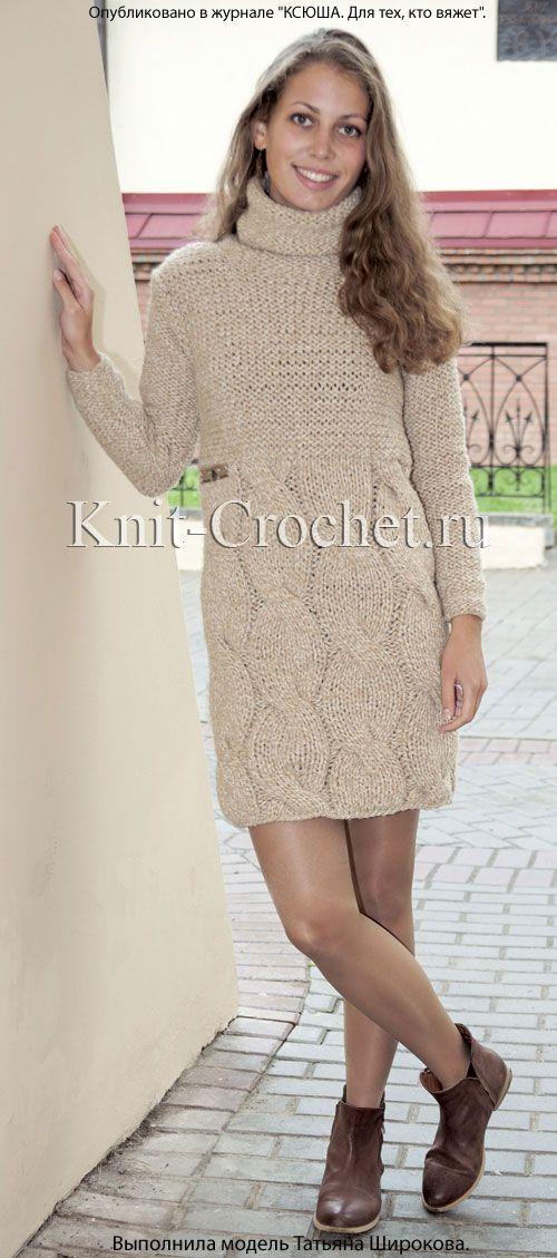 Платье, вязаное спицами. http://knit-crochet.ru/publ/vjazanie_spicami/platja_svjazannye_spicami/plate_vjazanoe_spicami/9-1-0-168