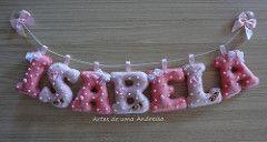 Varal de letras/nomes em feltro | Flickr