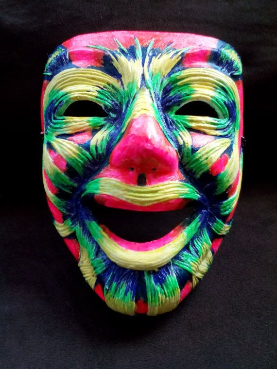 neon muscle face party mask