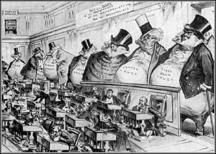 Clayton Antitrust Act (1914)-  Strengthened Sherman Anti-trust act.  Filled loop-holes