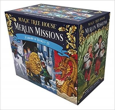 Magic Tree House Merlin Missions #1-25 Boxed Set! Merlin Mission Books 1–25 of the #1 New York Times bestselling Magic Tree House series boxed together for the first time ever! Books in this Merlin Missions set include: Christmas in Camelot, Haunted Castle on Hallows Eve, Summer of the Sea Serpent, Winter of the Ice Wizard, Carnival at Candlelight, Season of the Sandstorm, Night of the New Magicians, Blizzard of the Blue Moon, Dragon of the Red Dawn, and more!