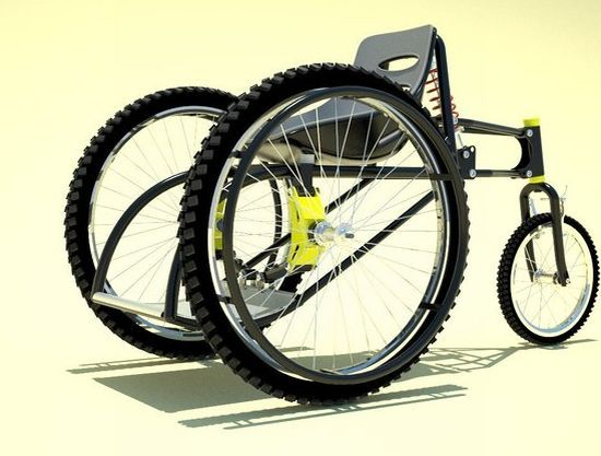 Gallery: All Mountain Wheel Chair Front View - Furniture, Architecture, Gadget, Industrial Design - Syahdiar Daily Picks Design
