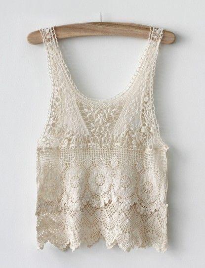 Crochet lace tank- cute over a maxi dress